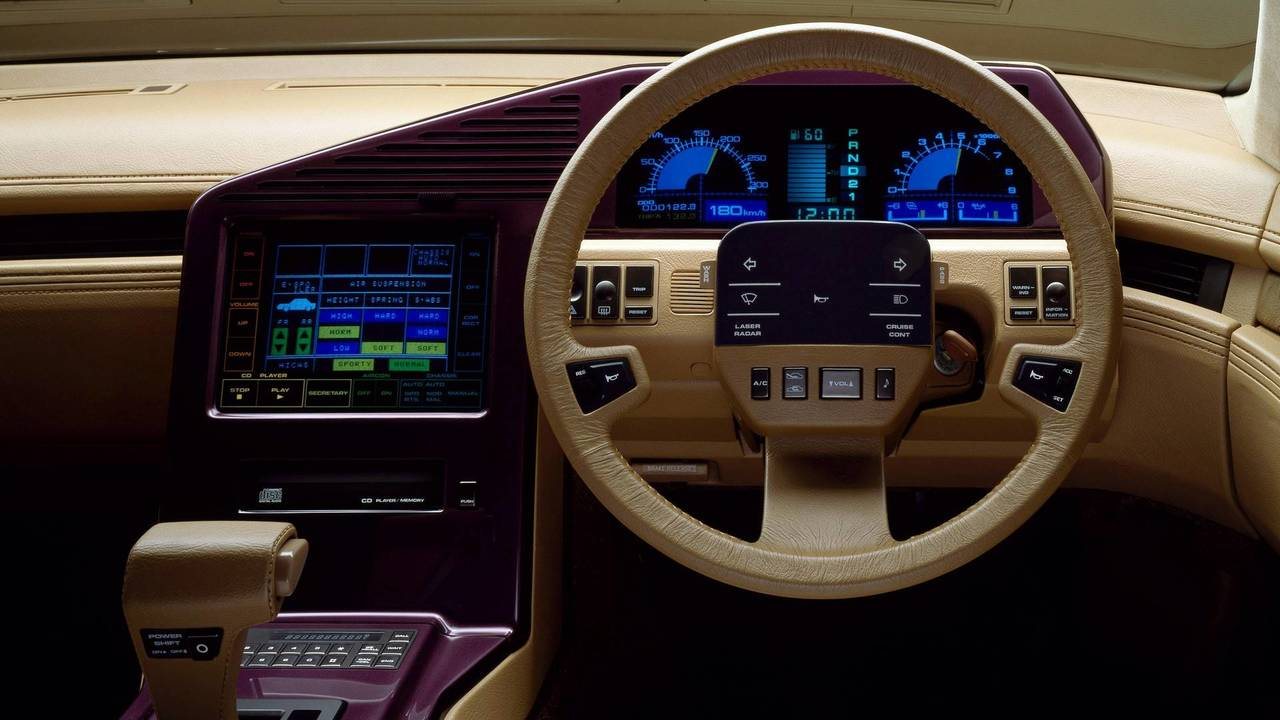 Retro Cars With The Coolest Digital Dashboards - Cool car dashboards