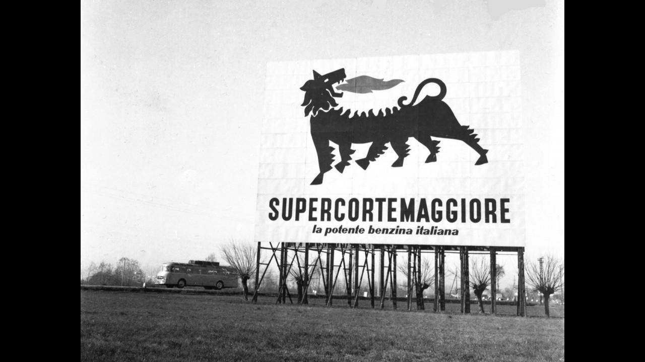 1953, cartellone pubblicitario Supercortemaggiore