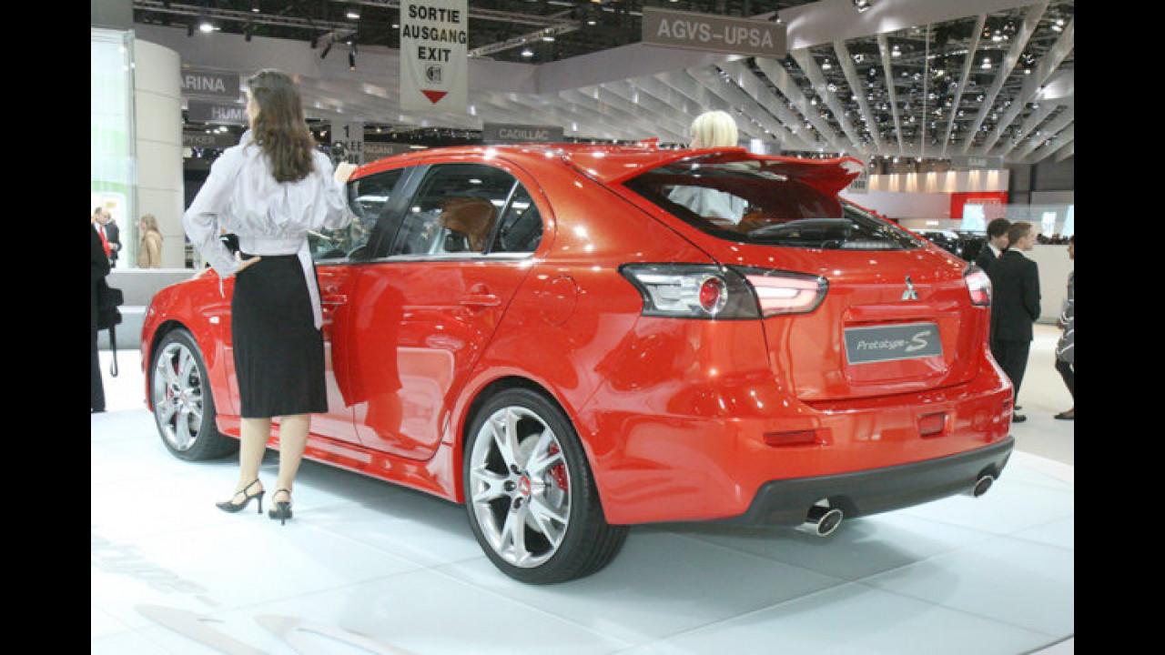 Weltpremiere: Die Studie Prototype S gibt einen Ausblick auf die Serienversion des Mitsubishi Lancer Sportback