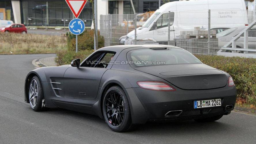 2013 Mercedes SLS AMG Black Series first time spied