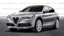 Alfa Romeo Stelvio lesser trim render