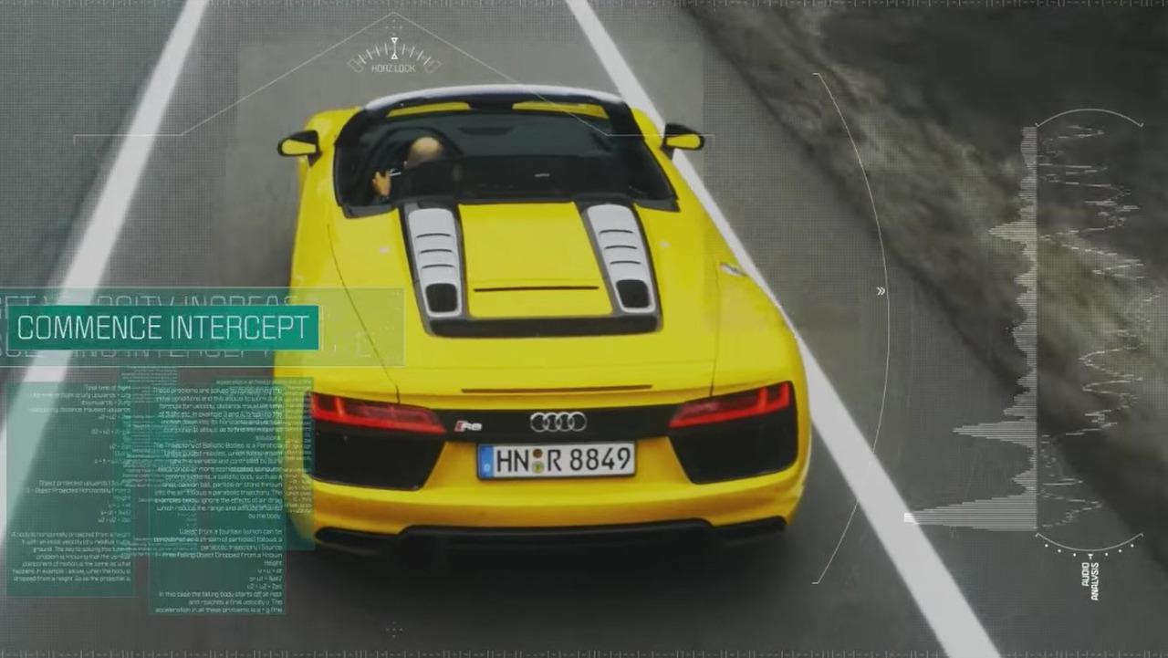 Audi R8 Spyder drone