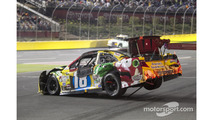 Crashed car of Kyle Busch, Joe Gibbs Racing Toyota