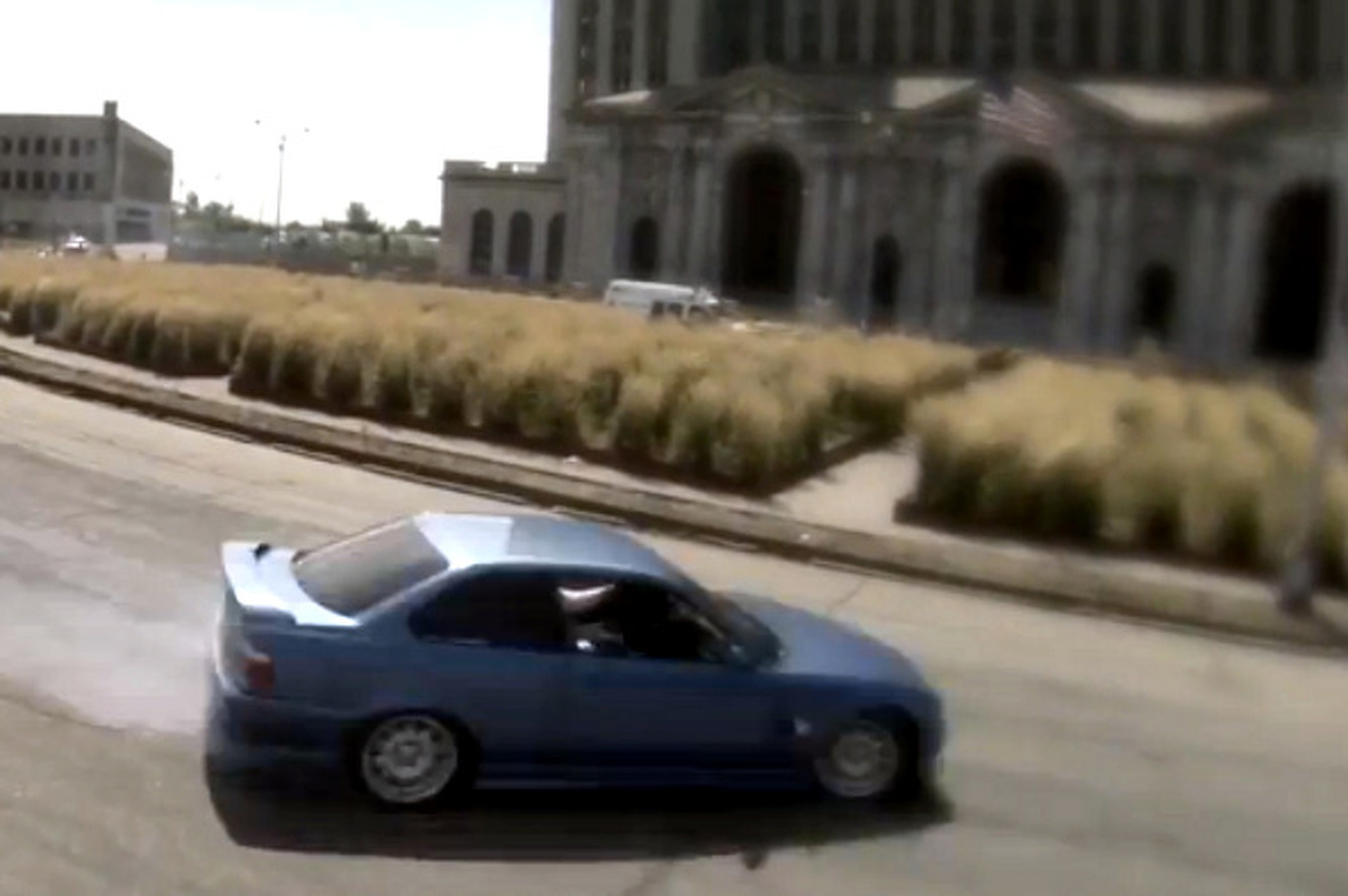 Racers Drift Through Detroit's Ruins