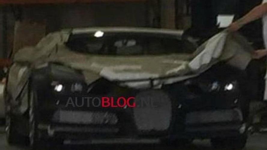 Blurry spy photo shows a heavily camouflaged Bugatti Chiron