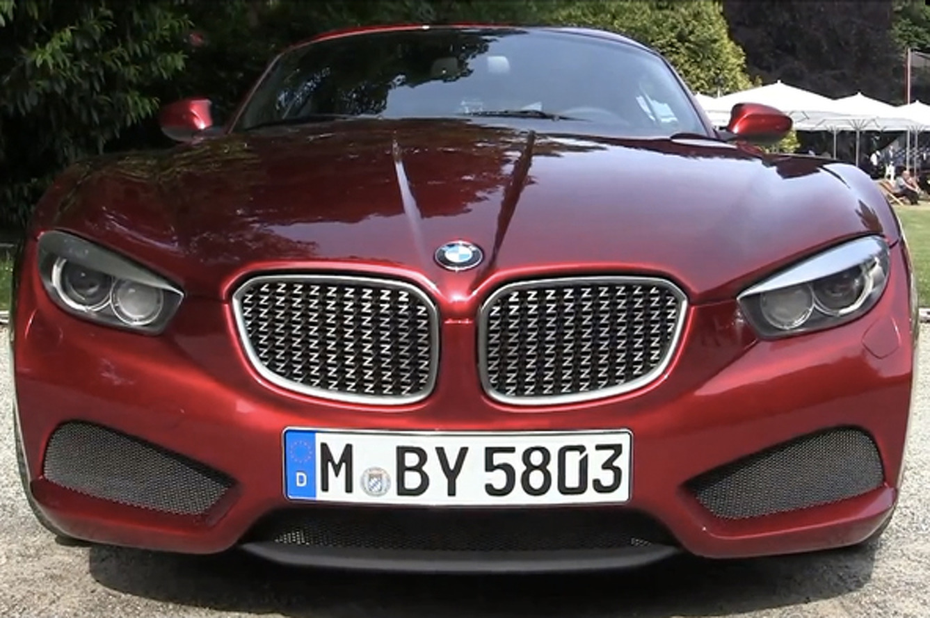 Footage of BMW Zagato Coupe Surfaces
