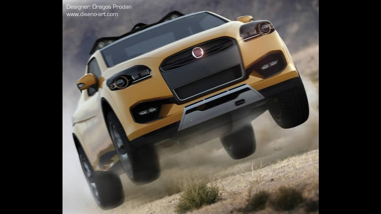 Pick-up Fiat Sentiero Concept - Designer romeno cria protótipo de pick-up compacta