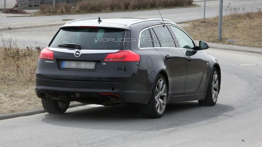 Opel Insignia OPC Sport Tourer Mule First Spy Photos