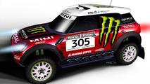 MINI ALL4 Racing Countryman for Dakar Rally 2011 by X-Raid 08.12.2010
