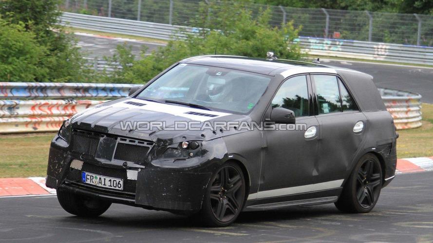 2012 Mercedes ML 63 AMG spied getting tipsy at Nurburgring