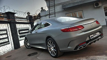 Mercedes-Benz S63 AMG Coupe wrapped in matte gray by Re-Styling