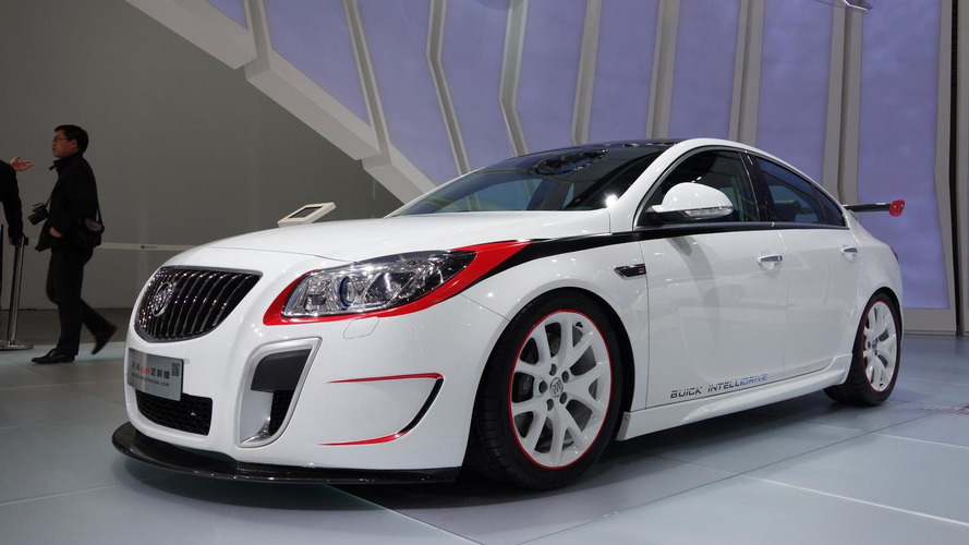 Modified Buick Regal GS sedan and Excelle XT hatchback presented at Auto Shanghai