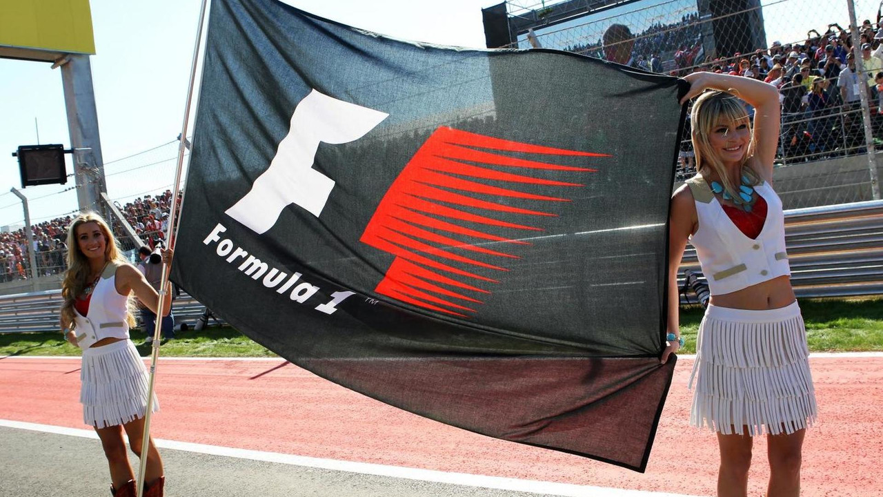 F1 flag on the grid