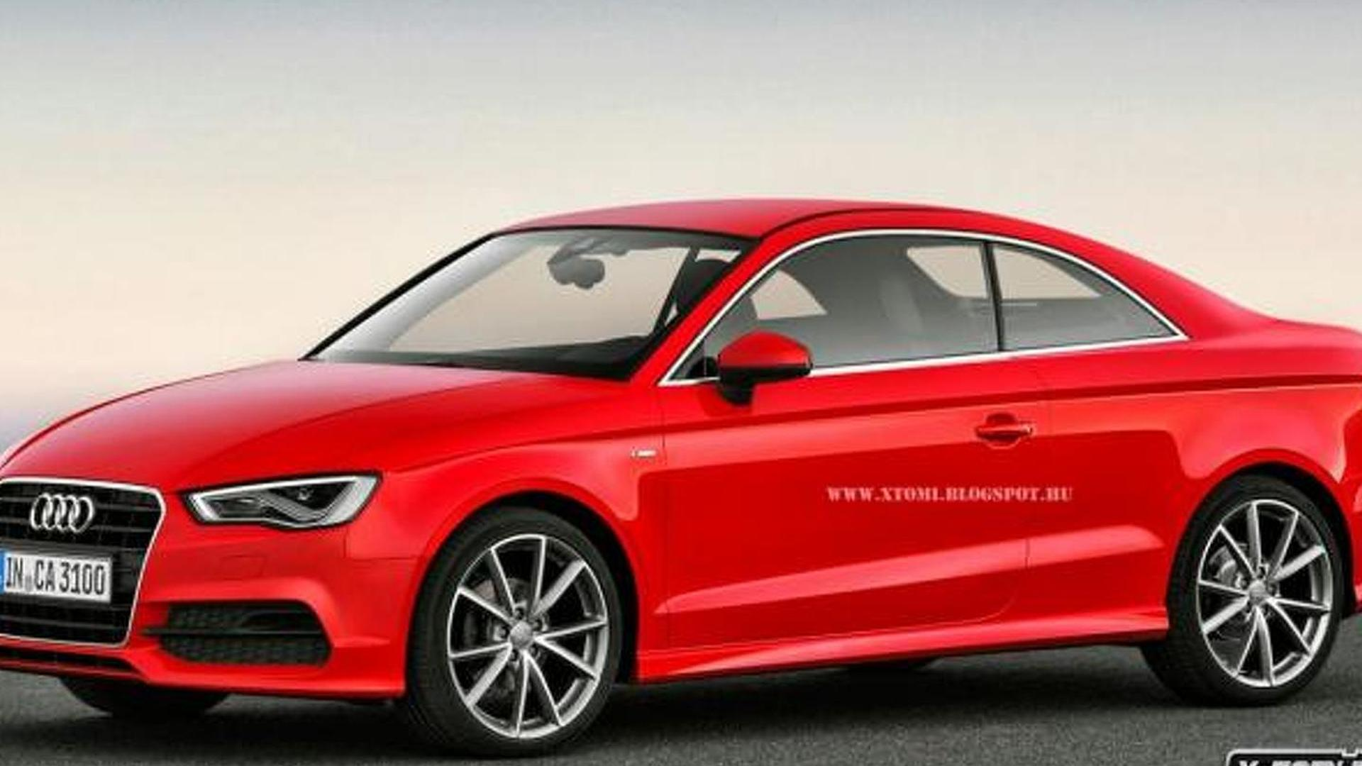 audi a3 coupe gets rendered. Black Bedroom Furniture Sets. Home Design Ideas