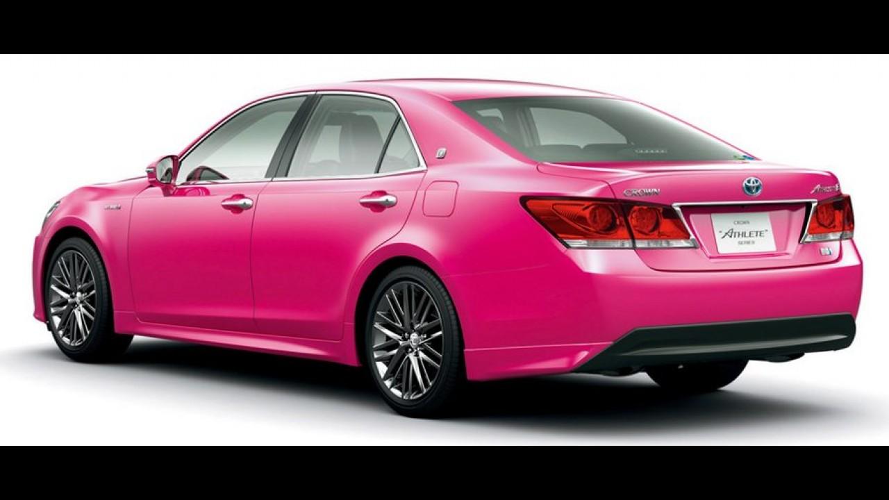 Rosa choque: Toyota Crown ganha edição limitada no Japão
