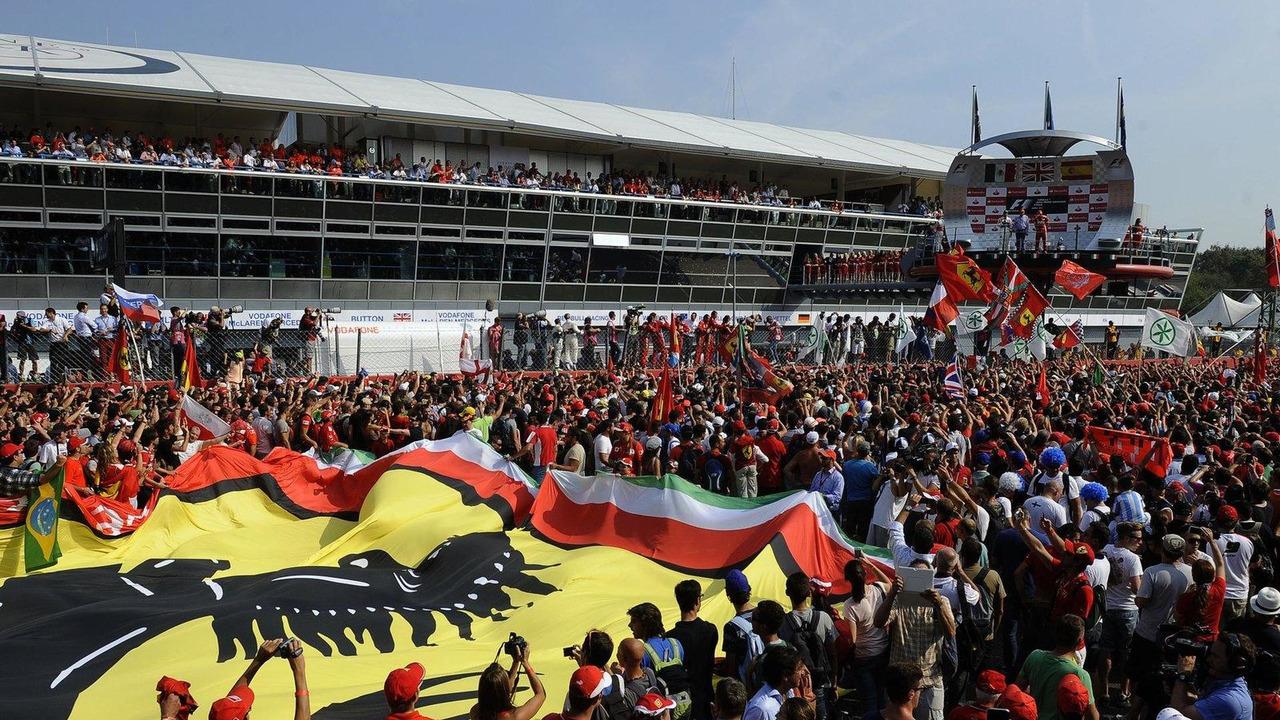 2013 Italian Grand Prix at Monza podium cermony 09.09.2012
