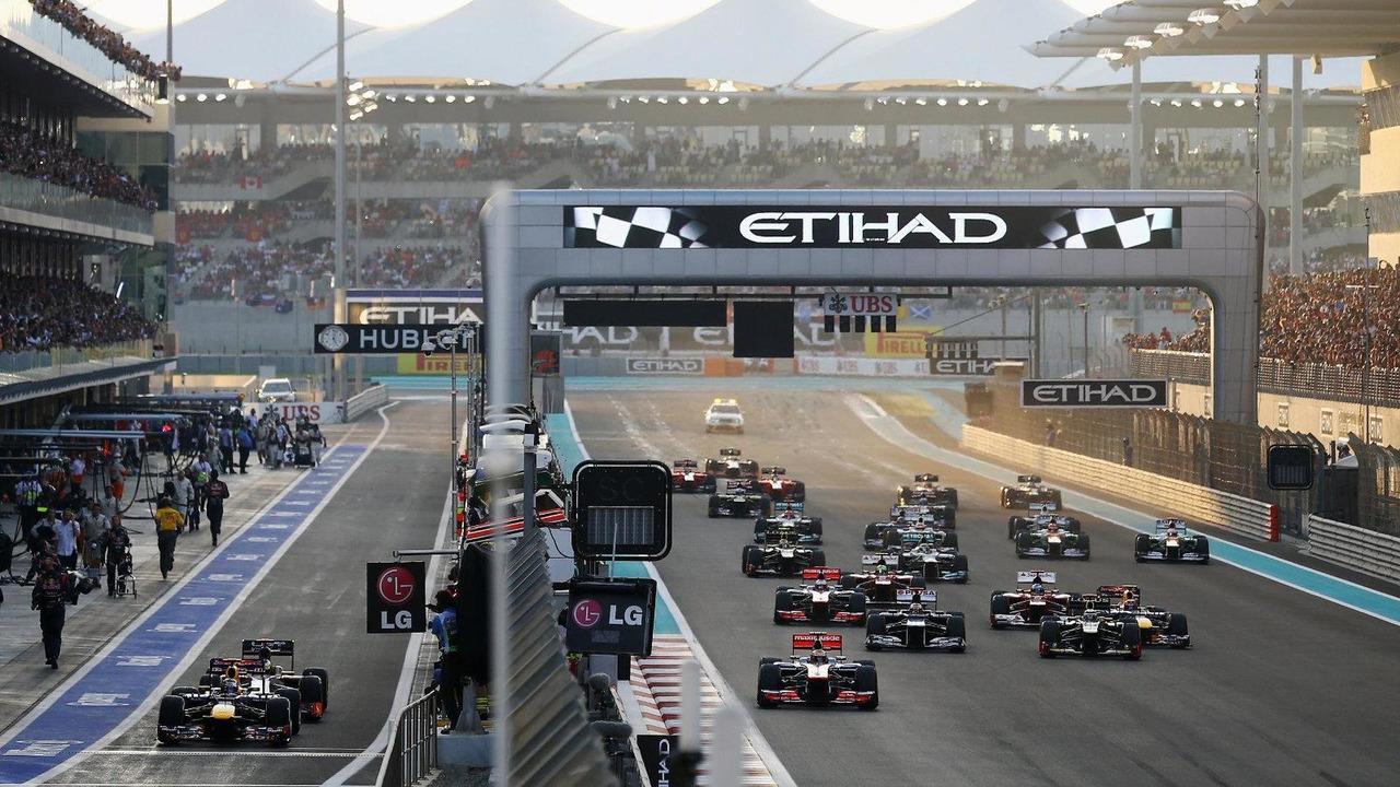 Abu Dhabi Grand Prix race start, 4.11.2012