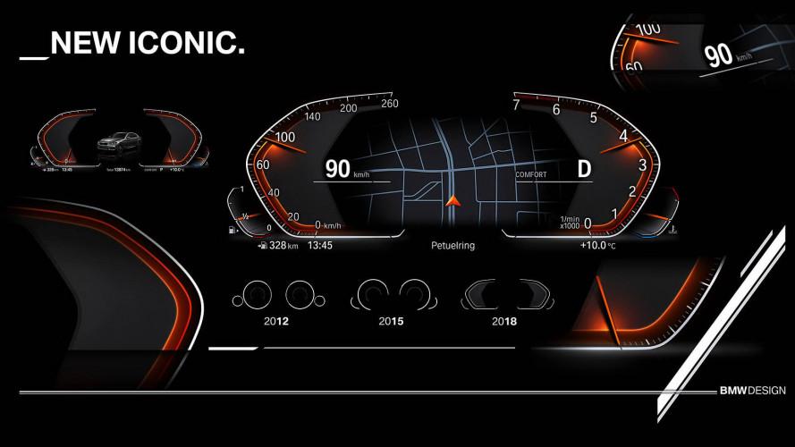 BMW zeigt digitales Instrumentendisplay