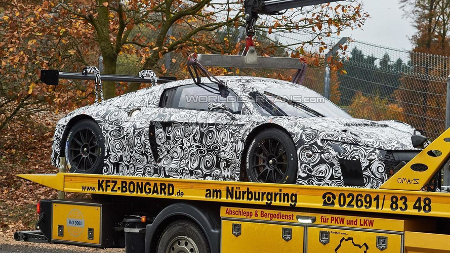 2015 Audi R8 LMS Ultra prototype hits the Ring & breaks down after a few laps