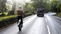 Dougie Lampkin mono-wheeling Isle of Man course