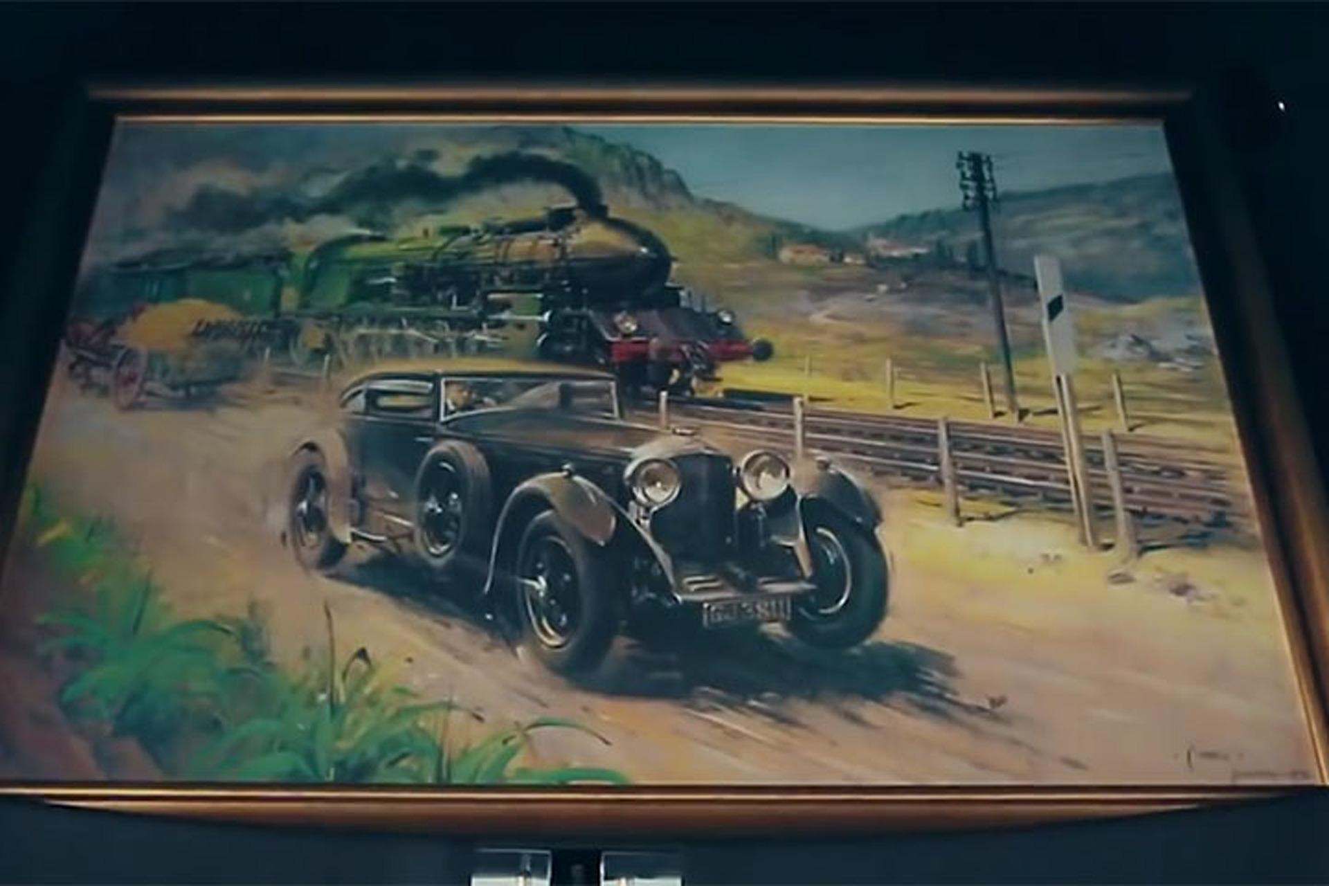 A Desert Version of the Classic Bentley Blue Train Race