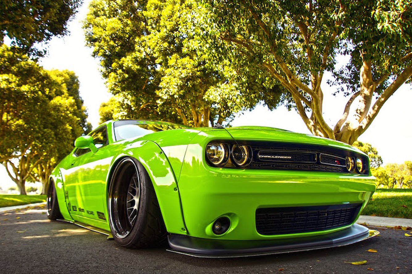 liberty walk dodge challenger projecthulk is as mean and. Black Bedroom Furniture Sets. Home Design Ideas
