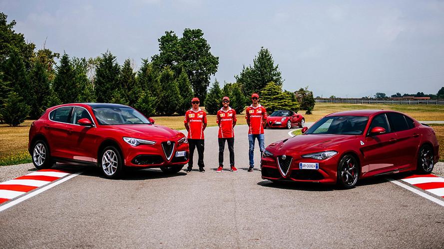 Vettel, Raikkonen Take Alfa Romeo Giulia Quadrifoglios For A Spin