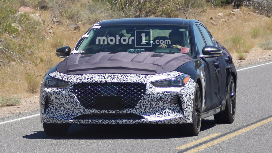 2018 Genesis G70 Spied Revealing Its Front End, Interior