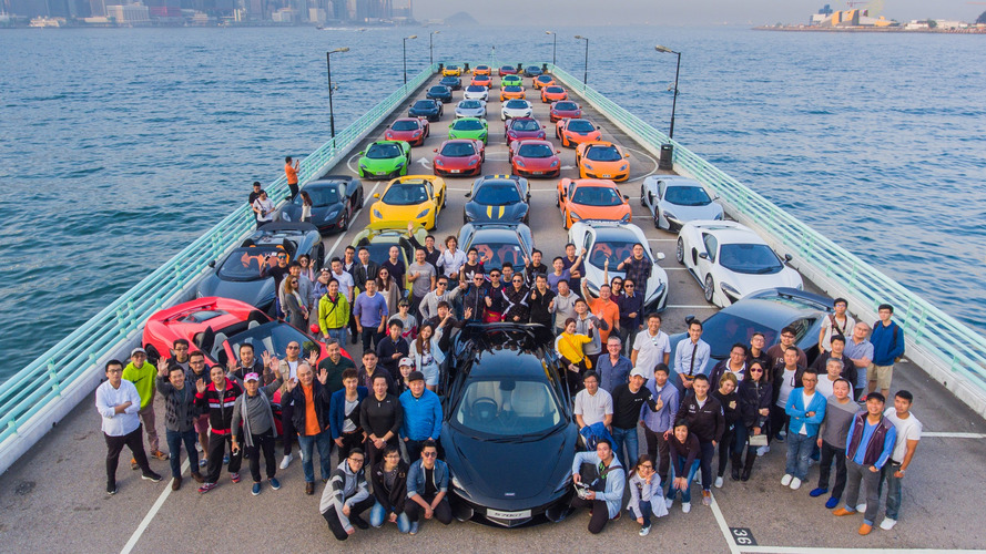50 colorful McLarens come together to celebrate the new year