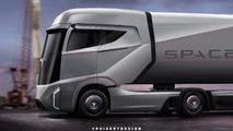 Tesla semi-truck rendered, Musk confirms development progress