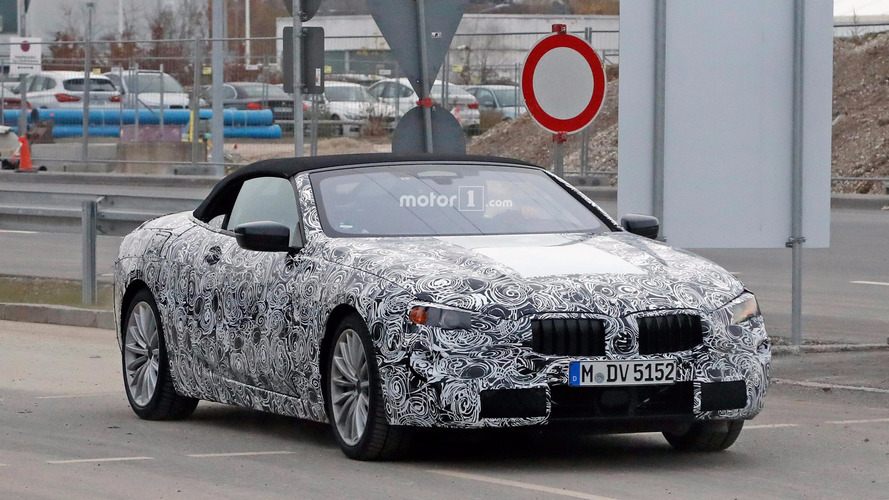 BMW 6 Series or 8 Series convertible spy photos