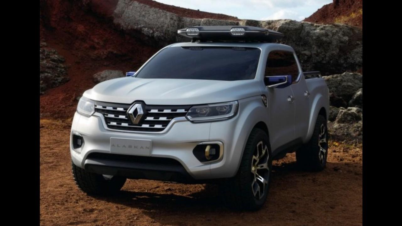 Renault divulga teaser e confirma batismo Alaskan para nova picape média