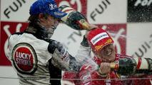 Jenson Button, Michael Schumacher, Podium, Suzuka, Japan 10.10.2004