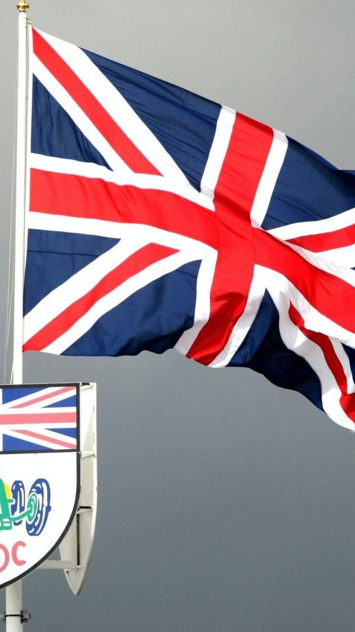 BRDC and Union Jack flags, British Grand Prix, Saturday, 05.07.2008 Silverstone, England