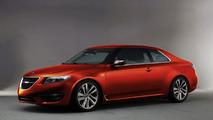 Saab 9-5 Coupe artist rendering