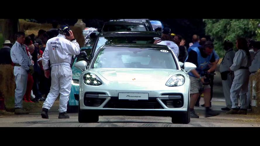 Porsche Panamera Sport Turismo Goodwood'da muhteşem görünüyor