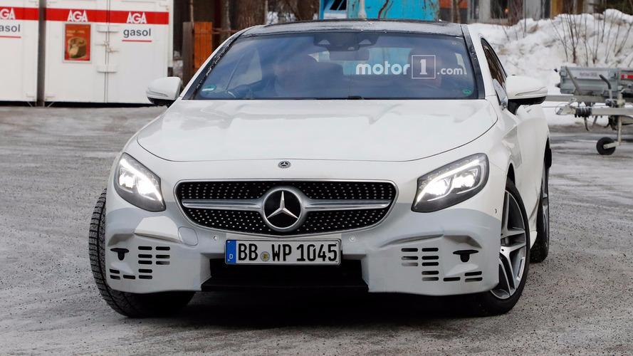 Mercedes-Benz S-Class Coupe Refresh Spy Photos
