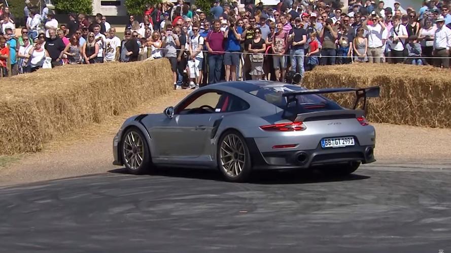 Porsche 911 GT2 RS Donut Attempt Fails At Goodwood