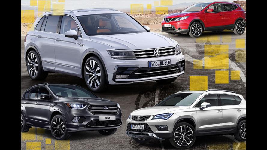 Der VW Tiguan und seine Konkurrenten im großen Datencheck
