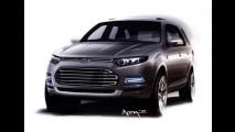 Ford divulga esboço do novo utilitário Territory