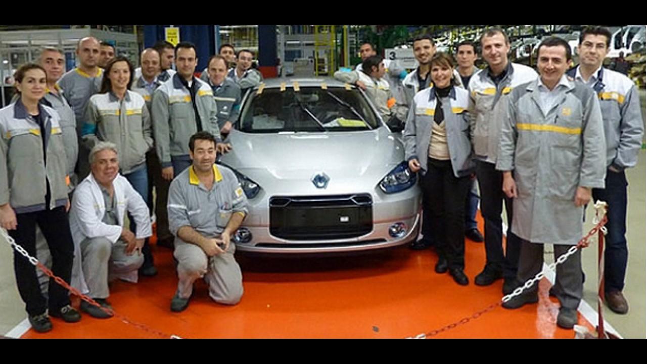 Renault Fluence elétrico tem primeiras unidades produzidas