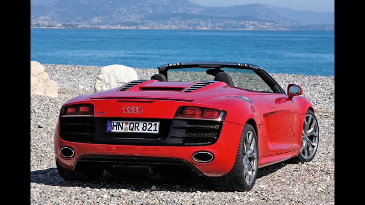 Audi R8 Spyder ganha versão com motor V8 de 430 cv