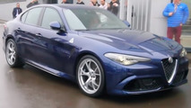 Alfa Romeo Giulia Quadrifoglio returns in up-close footage [videos]