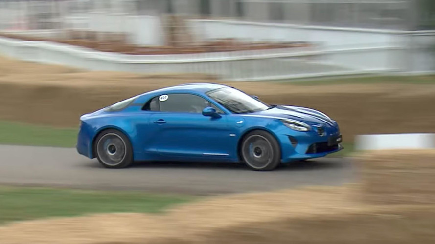 watch the alpine a110 makes its dynamic debut at goodwood. Black Bedroom Furniture Sets. Home Design Ideas