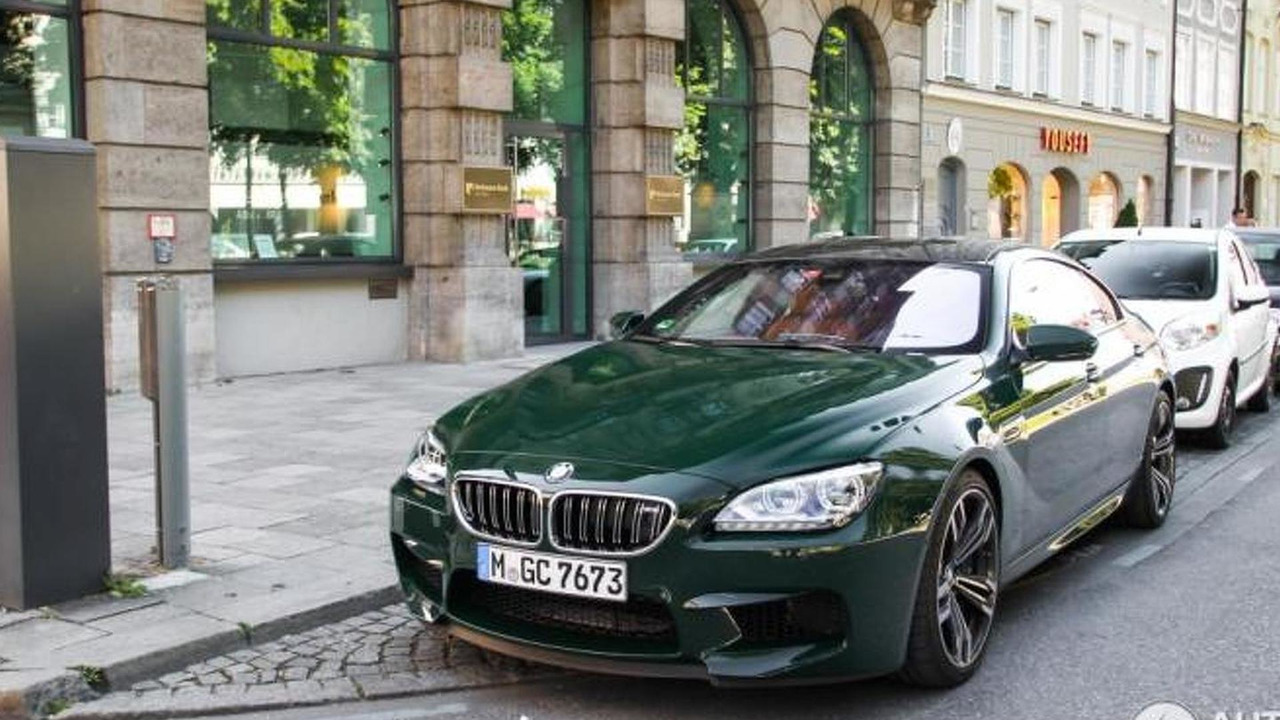BMW M6 Gran Coupe with green paint