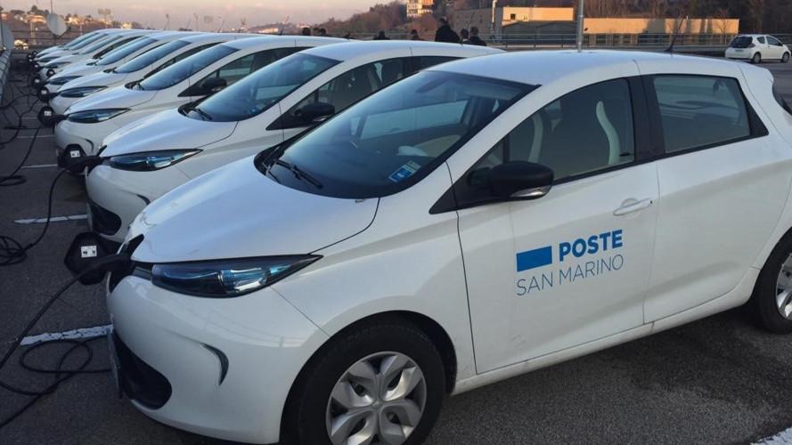 Renault ZOE, la nuova auto della poste di San Marino