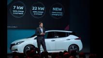 Nuova Nissan Leaf vista dal vivo a Oslo