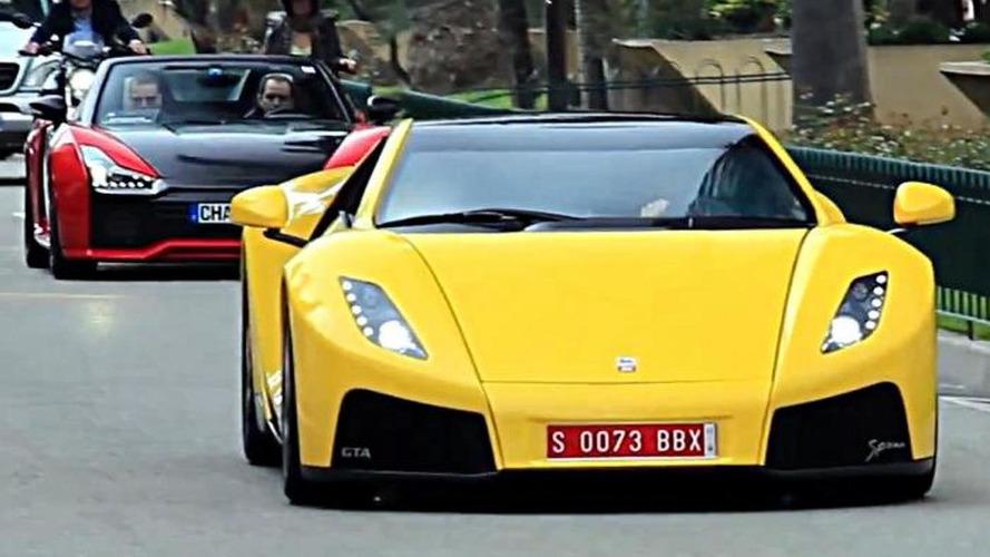 900 HP GTA Spano pursued by 590 HP Ferrari 458 Italia in Monaco [video]