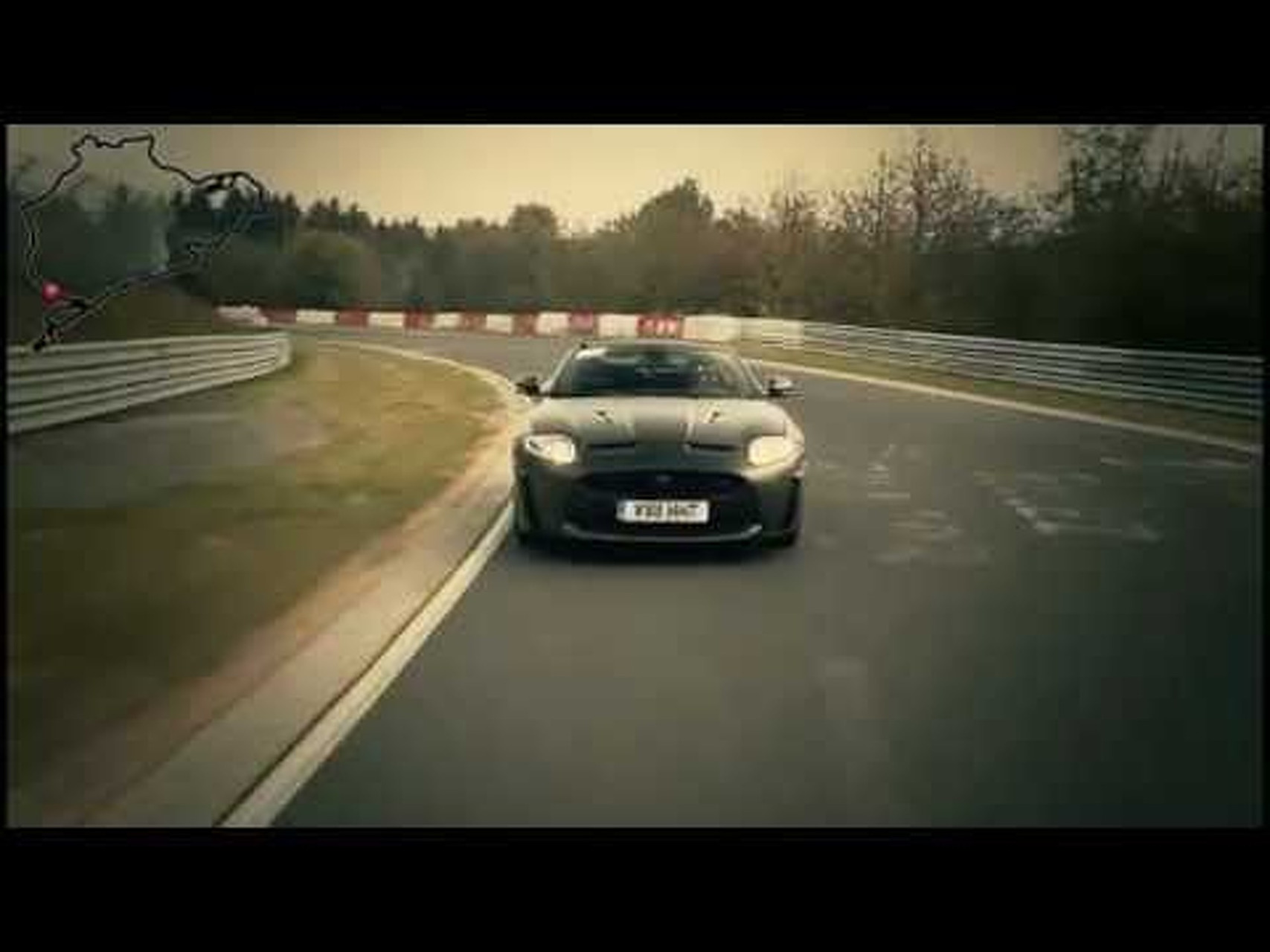 2012 Jaguar XKR-S Convertible on the Nurburgring