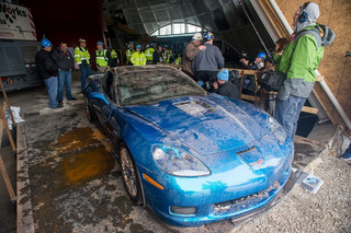 Watch the First Fully-Restored Sinkhole Corvette Debut at SEMA